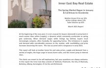 Oakland Berkeley Inner East Bay Real Estate March 2021 Report